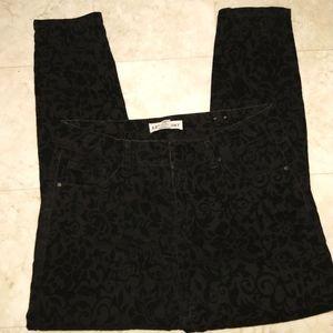 Artisan NY black velvet skinny jeans